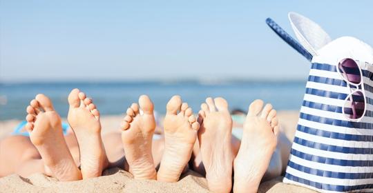 La salud del pie en verano